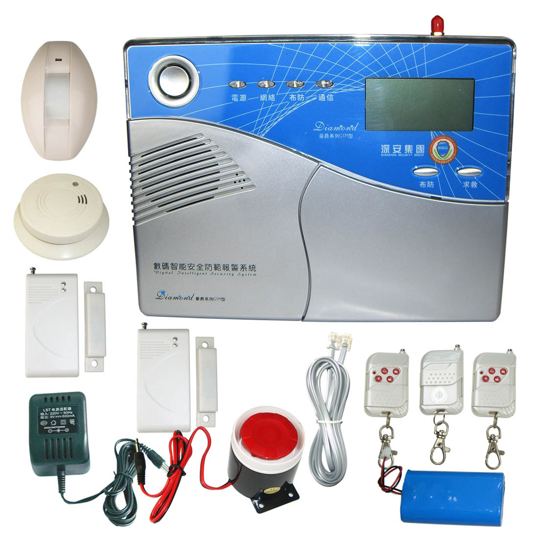 Wireless alarm system PK-1168-Y-TEL-LCD