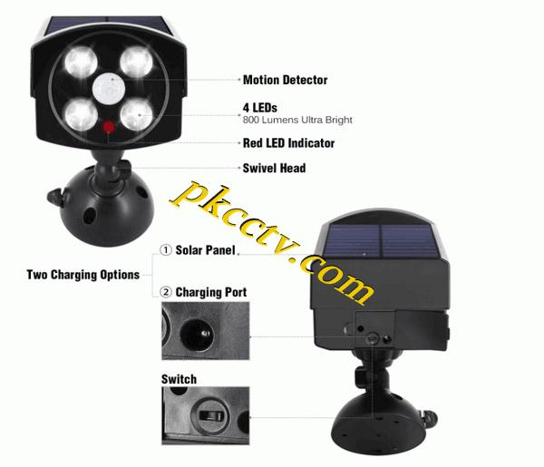 camera shape solar light