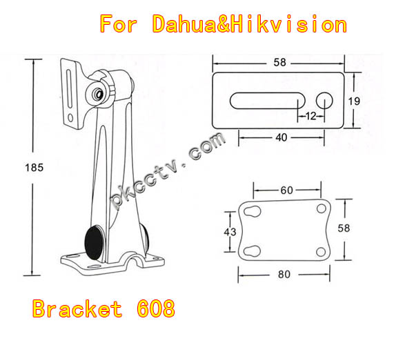 Bracket-PKBRC608 is compatible for Dahua and Hikvision cameras