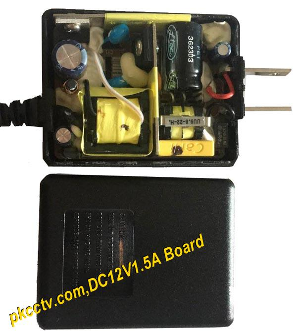 CCTV power adaptor DC12V1.5A PCB board