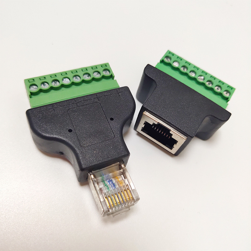 RJ45 MALE TO 8 PIN SCREW TERMINAL ADAPTER RJ45M-8