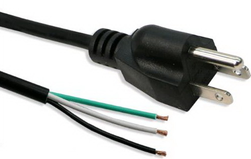 3 peeled tail AC LINE USA AC Power cord